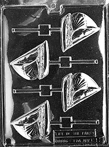 Sailboat Lollipop Chocolate Mold - K012 -