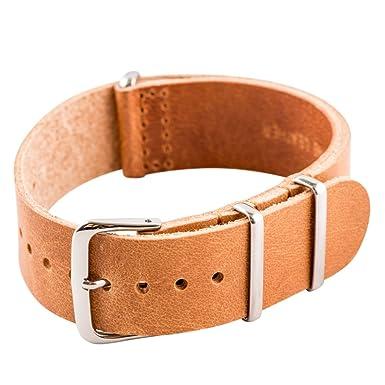 72861e3c074 Amazon.com  Clockwork Synergy Leather NATO Watch Strap Band  Clothing