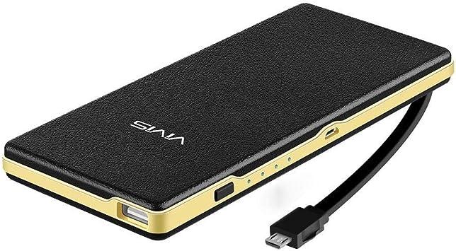 Batería Externa VIVIS 15000mAh Cable Micro USB Incorporado ...