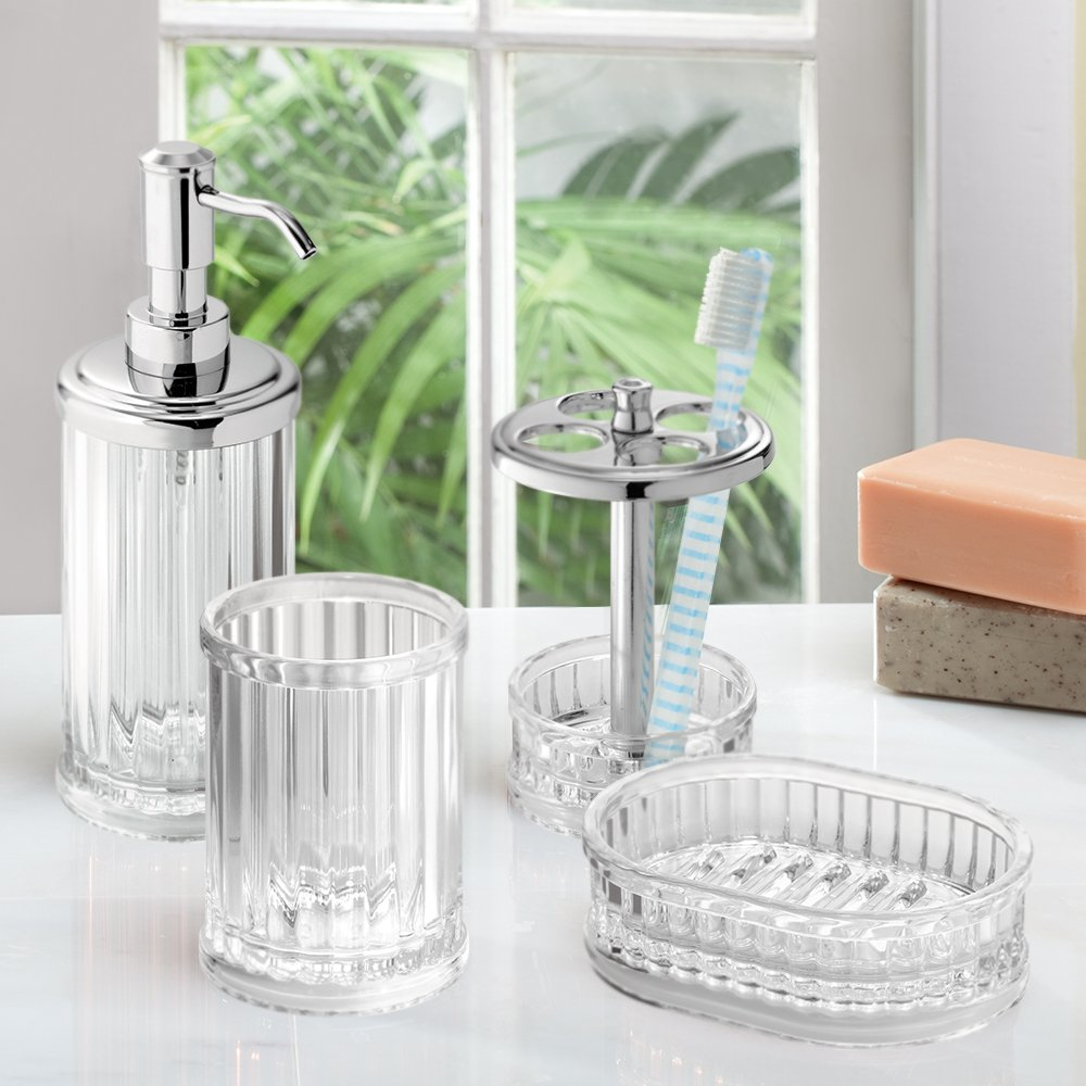 Amazon.com: InterDesign Alston Bath Accessory Set, Soap Dispenser ...