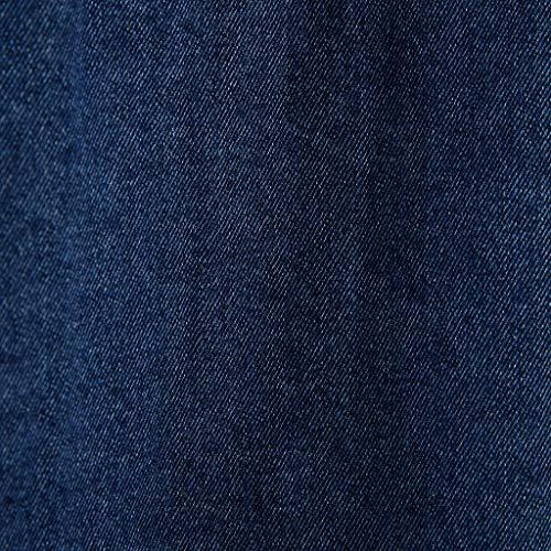 Xxl Abito Denim Blue 190 Vintage Pelliccia Giacche Size Giacca Blue color Sottile Sintetica Rivestimento Sul 104a Uomo Coppie Tasca Da In Staccabile Corta Petto 7nRUx