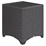 Cozumel Wicker End Table with Aluminum Top
