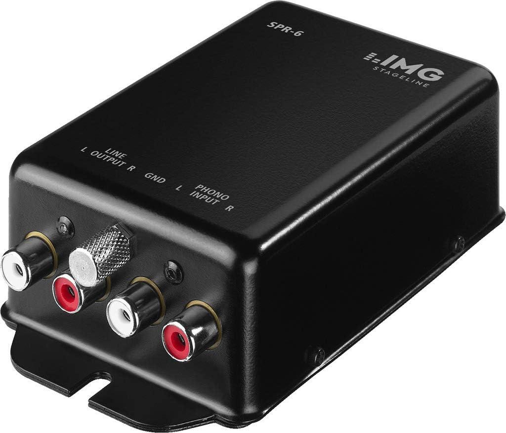 IMG Stage Line SPR-6 - Preamplificadores de audio (Negro, 450 mV ...