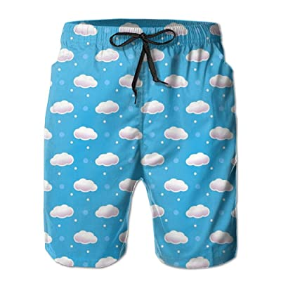Game Life Shorts Clouds Mens Tree Quick Dry Swim Trunks Beach Shorts with Mesh Lining