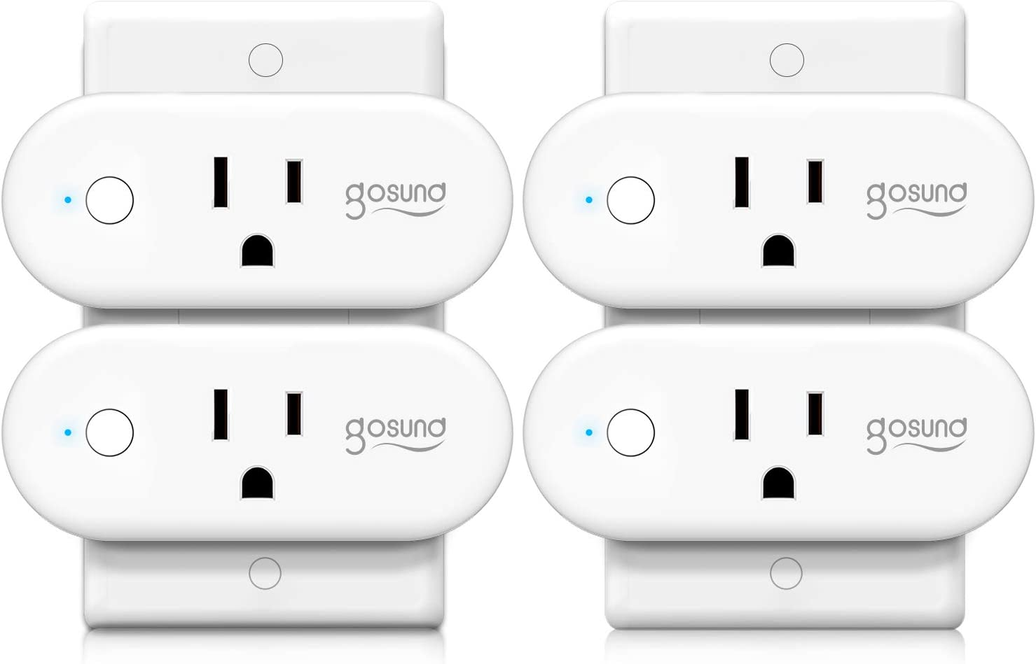 Smart Plug Gosund WiFi Outlet 16A Socket Works with Alexa Google Home Plugs, Voice and App Control, Schedule and Timer, No Hub Required, Support High Power Appliance, FCC Certification, 4 Pack - -