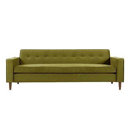 Etonnant Kardiel Eleanor Mid Century Modern Classic Sofa, Olive Velvet
