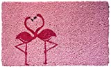 "front door color ideas Entryways Flamingo Handmade, Hand-Stenciled, All-Natural Coconut Fiber Coir Doormat,  18"" X 30"" X .75"""