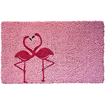Amazon Com Entryways Flamingo Handmade Hand Stenciled
