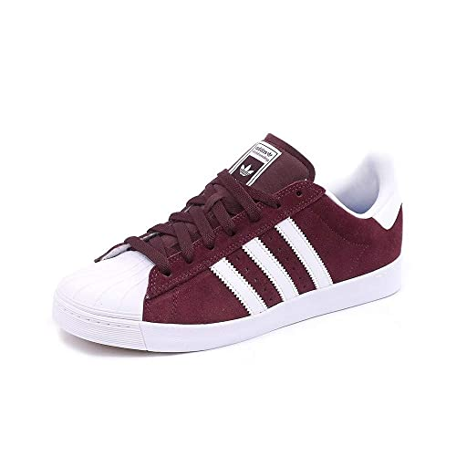 delicate colors shop classic Adidas Superstar Vulc Adv Maroon - Sneakers Brown Suede