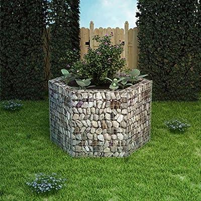 tiauant Casa y jardín Jardín Jardinería Macetas y tiestos Jardinera Hexagonal de gaviones 160x139x100 cm maceteros Exterior jardinDiametro del Alambre: 3, 5 mm: Amazon.es: Jardín