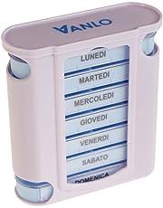 VANLO - Tower Portapillole, 4 linee di pianificazione giornaliera, italiano