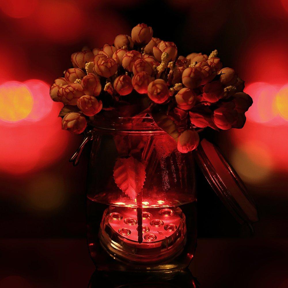 AGM RGB LED Unterwasser Lampen Fernbedienung Party Vase Aquarium Decor Leuchte
