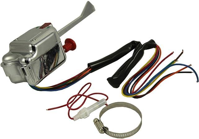 Interruptor de Se/ñal de Giro Universal de Hot Street de 12 V Hot Rod de Calle Intermitente para P021-TS-HL101
