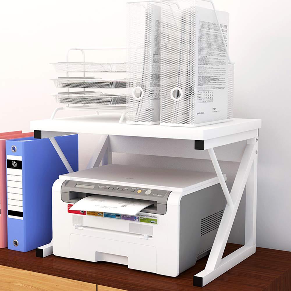 Supporto per Forno a microonde ZDDAB Scaffali di Legno per uffici Domestici Supporto da Tavolo per Stampante Rack di archiviazione Multifunzione per fotocopiatrici Desktop a 2 Strati