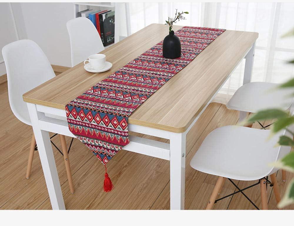 Tischl/äufer,Nordic Moderne Baumwolle Und Leinen Tischl/äufer Einfach Lange Abschnitt B/öhmen Bedruckte Gewebe Home Dector F/ür Esstisch Tv-Schrank Couchtisch 30 cm X 100 cm