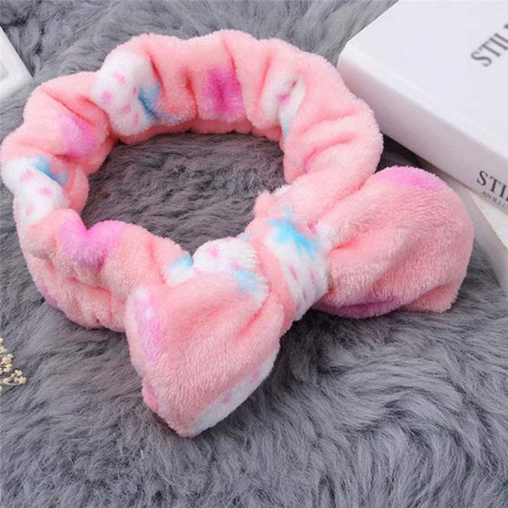 Jingyuu 1 pz pile coral fascia per capelli da bagno capelli fascia per capelli per viso lavaggio trucco doccia fascia elastica per capelli da donna