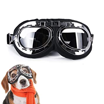 Lifeunion Vintage Steampunk Dog Goggles Adjustable Aviator Pilot Motorcycle Helmet Dog Cat Goggles Sunglasses