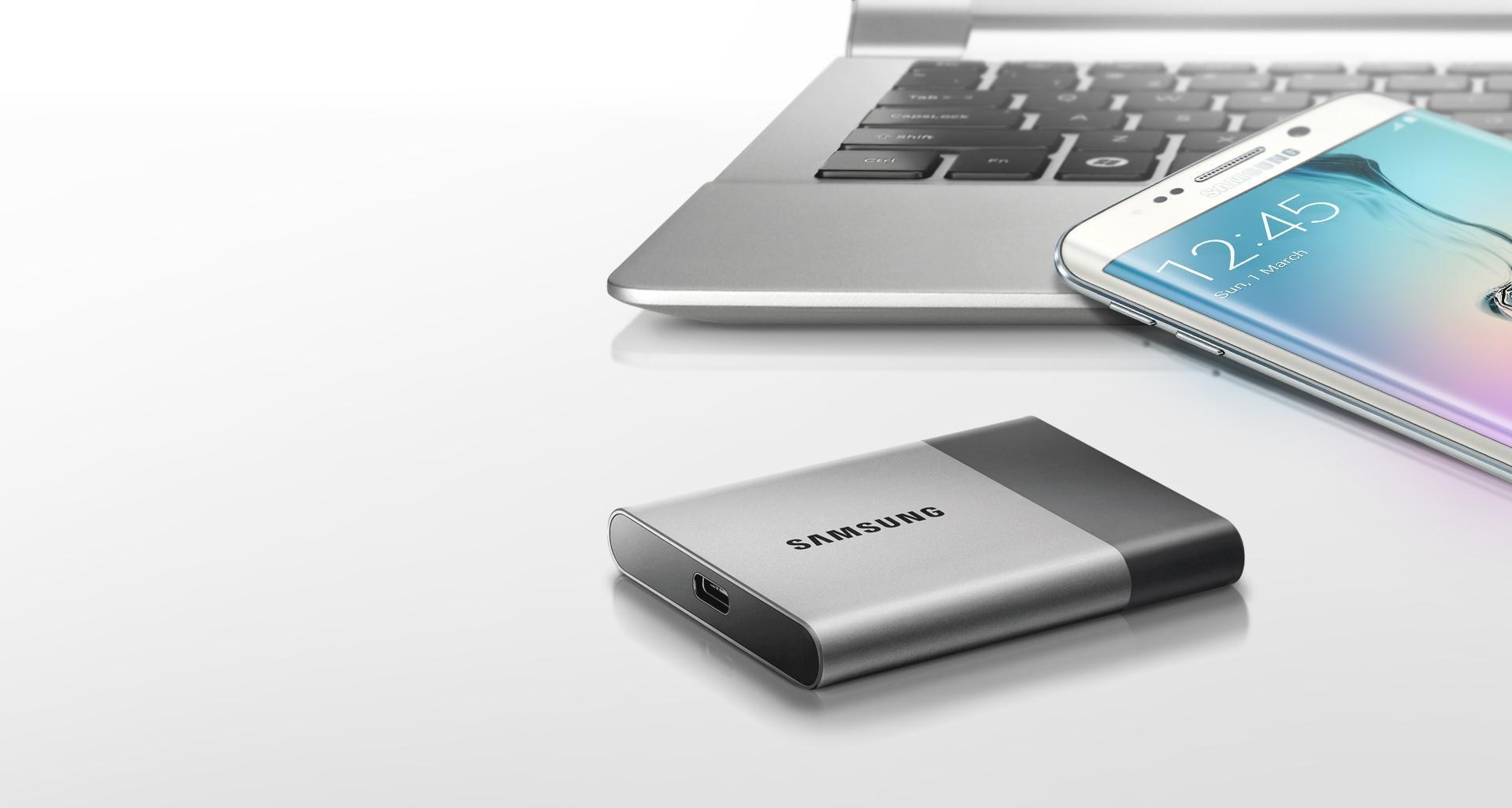 Samsung T3 Portable SSD - 250GB - USB 3.1 External SSD (MU-PT250B/AM) (Renewed) by Samsung (Image #2)