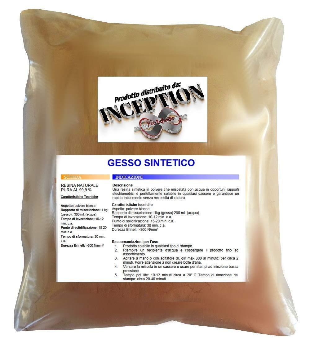 Inception Pro Infinite 2kg del miglior Gesso in Commercio! Gesso Sintetico - atossico - colabile - extraduro - Colore Terracotta - Alta Definizione e Resistenza