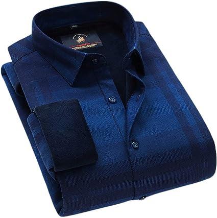 HSJ Camisa de Abrigo para Hombre Camisa Caliente de Invierno ...