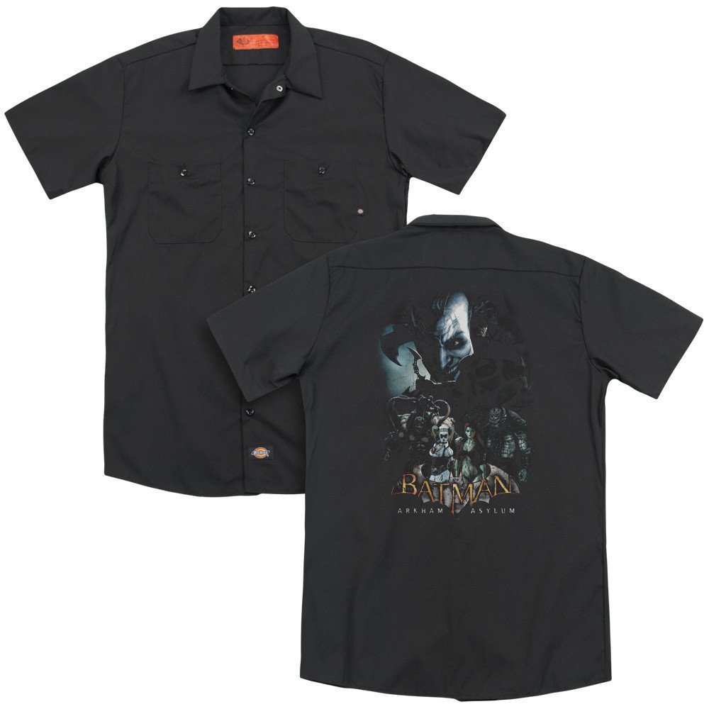 Batman Aa Five Against One Adult Work Shirt