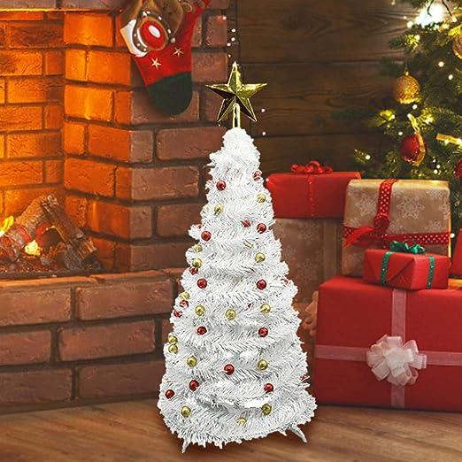 Árbol De Navidad Árbol De Navidad Artificial Plegable con Piña Adornos De Mesa De Cinta De Manzana Pequeña con Soporte para El Hogar Navidad Fiestas De Halloween Decoración: Amazon.es: Hogar