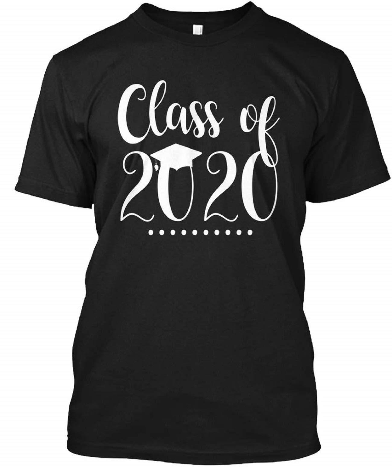 Class Of 2020 Senior Graduation T Shirt For Funny Letter Print Short Sleeve