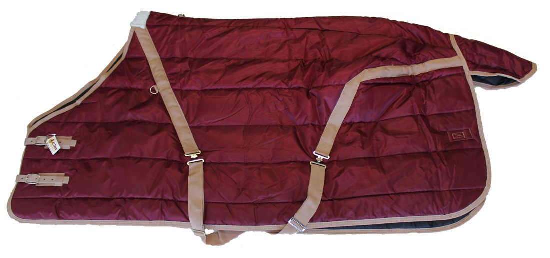 420D Heavy Weight Horse Stable Blanket Burgundy AJ Tack