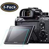 Screen Protector for Sony Alpha a7RIII A7R3 A9 A7II A7RII A7SII A77II A99II RX100 RX100V RX1 RX1R RX10 RX10II Camera QIBOX Tempered Glass Screen Guard Full Coverage Edge to Edge[3 Pack]