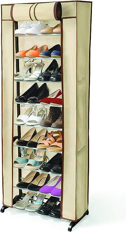 Ideaworks Shoe Rack Beige 51 X 25 X 140cm Amazon Co Uk Kitchen Home