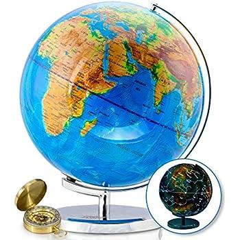 Amazoncom ZUEDA In Illuminated Constellation Globe LED - Interactive globe map