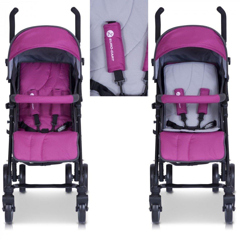 Silla de paseo easyGO RITMO Carrito con Capazo de alta calidad, color ultraviolet