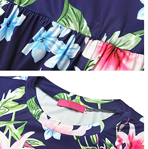 Fashion Weekendy Lily Print Pattern Dress Robe Points Huit Robe As Dress Shown Dress Manches Rond col Swing T1dr1gqwx