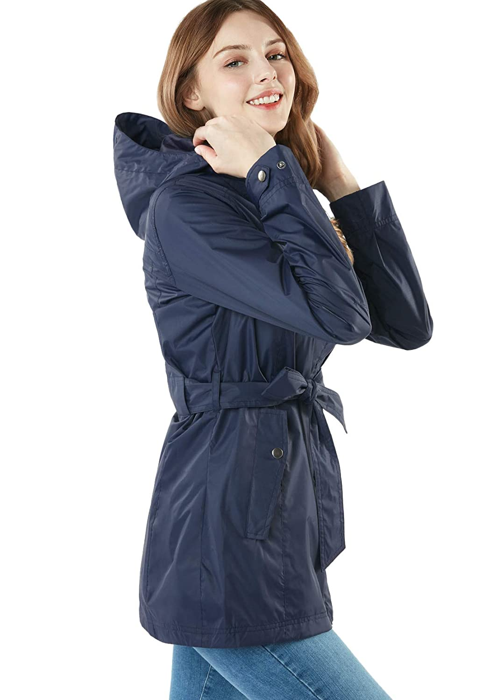 アウトドア トレンチレインジャケット FET24 TESLA 旅行 ジャケット [防水・透湿] レインスーツ (テスラ) レインウェア トレンチスタイル レインコート レディース