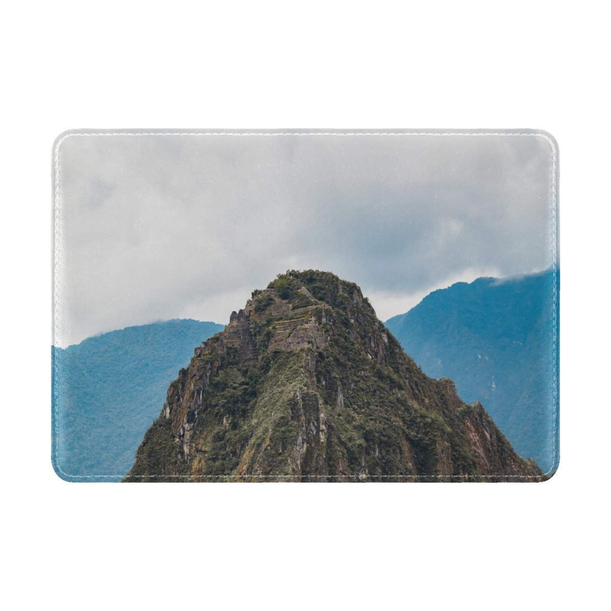 Mountains Rock Peak Leather Passport Holder Cover Case Travel One Pocket