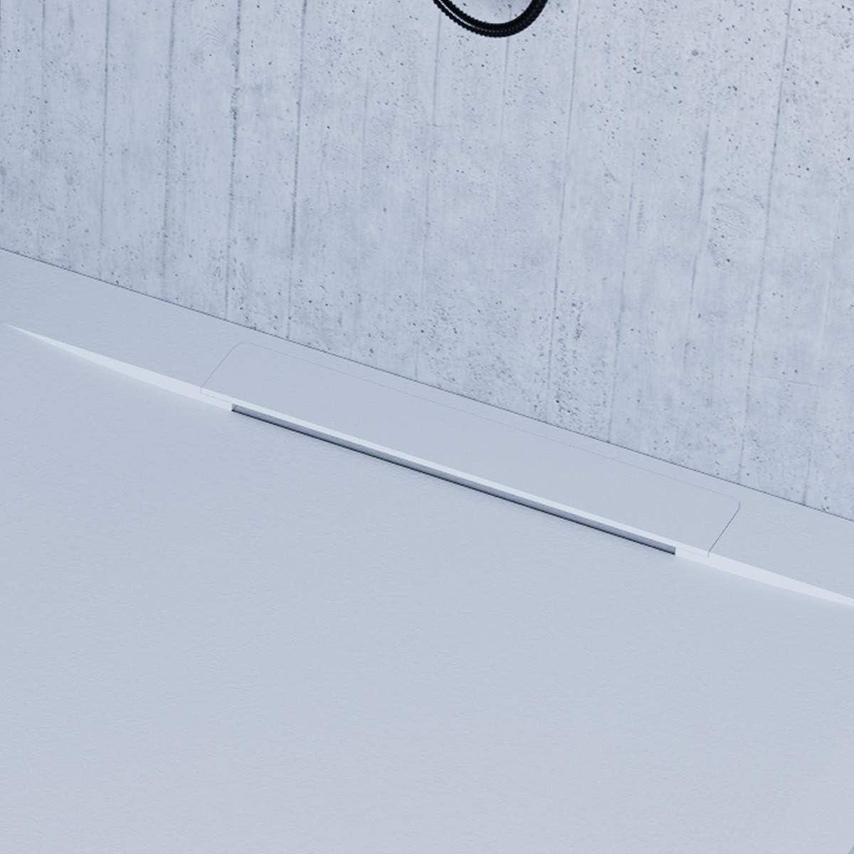 Mineral Marbre 80x170 Olimpo Docce Receveur de Douche Vincent Blanc Design Minimal