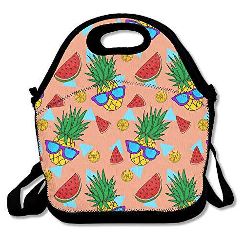 CHI-M Lunch Bag Pineapple With Sunglasses Insulating Handbag Lunchbox Warm Lunch Pouch For School Work - Minimum Cheap Sunglasses Custom No