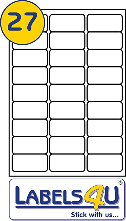 2700 Labels White Self Adhesive Blank A4 Address FBA Stickers 100 Sheets