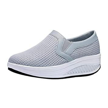 ZHRUI Calzado deportivo al aire libre para mujeres, entrenadores Mary Janes Lindos zapatos con cordones