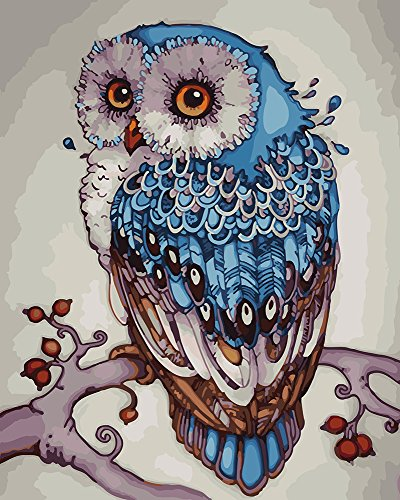 Easy ArtWorld's Painting by Number | Paint by Number Kits | Beautiful DIY Artwork Painting Kit | Painting with a Twist | Painting for All Ages (Ruffled Feathers, Wooden Frame)
