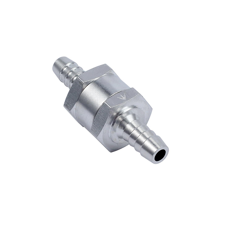 Justecheu Alu Rü ckschlagventil Rü cklaufventil Ventil 8mm Schlauch Diesel Benzin Kraftstoff AT266-de-J