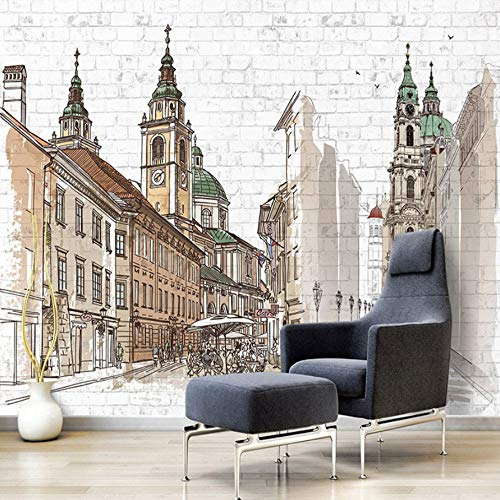 3D Wallpaper Wall Stickers Murals Decorations European City Coffee Shop Bedroom Brick Decoration Art Art Kids Kitchen -