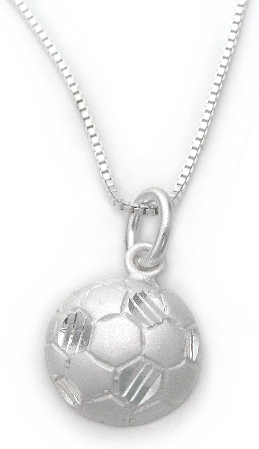 Sterling Silver Solid Polished Soccer Player Charm