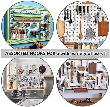 Cavis 86 Piece Pegboard Hooks Organizer Assortment with Metal Hooks,Pegboard Bins and Peg Locks