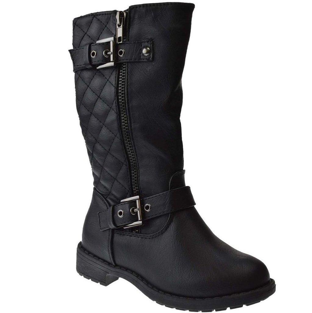 Lucky Top Pack 95K Little Girls Riding Zipper Boots Black 11M Little Kid
