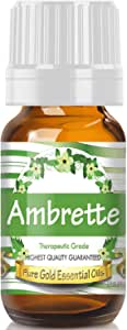 Pure Gold Ambrette Essential Oil, 100% Natural & Undiluted, 10ml