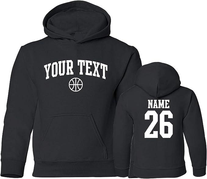 Amazon.com: Youth sudadera con capucha personalizado texto ...