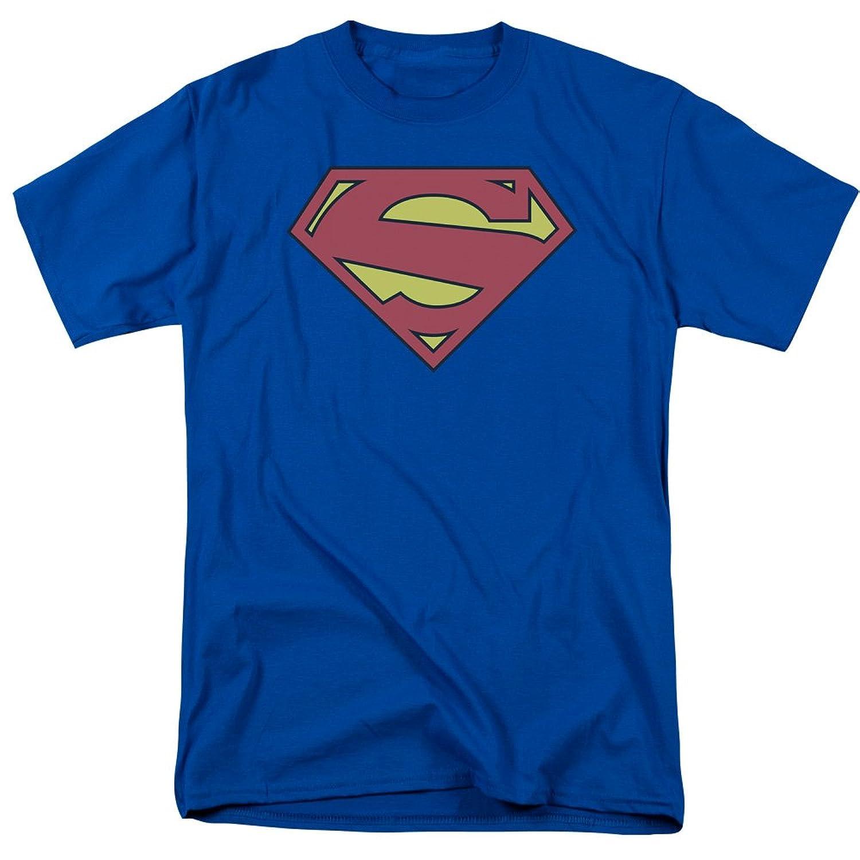 Superman DC Comics Classic New 52 S Shield Logo Distressed Adult T-Shirt