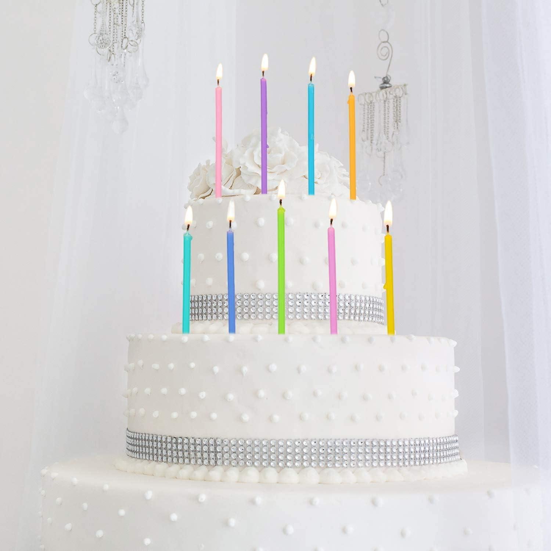 Assorted PastelHappy Birthday Candles 12 pcs.