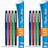 Paper Mate Flair Felt Tip Pens, Medium Point (0.7mm), Business Colors, 8 Count